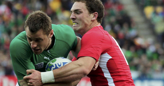 Tommy Bowe and George North