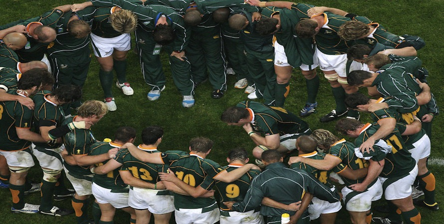 South Africa team talk